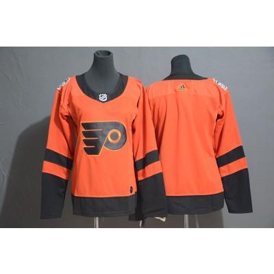 NHL Flyers Blank 2019 Stadium Series Orange Adidas Women Jersey