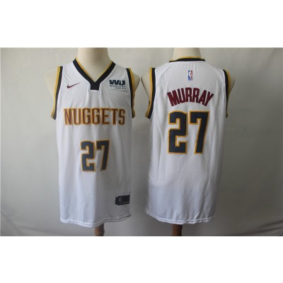 NBA Nuggets 27 Jamal Murray White Nike Swingman Men Jersey