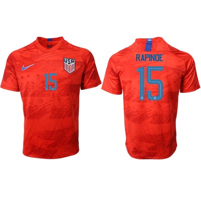 2019-20 USA 15 RAPINOE Away Thailand Soccer Men Jersey