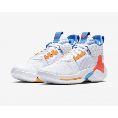 "Russell Westbrook Jordan ""Why Not?"" Zer0.2 ""OKC Home"" White Shoes"
