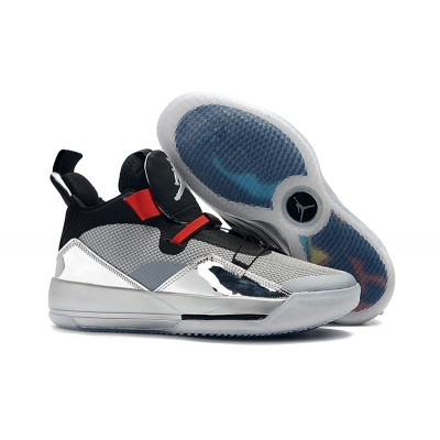 Air Jordan 33 Black Sliver Shoes