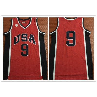 Olympics Team USA 9 Red Stitched Basketball Men Jersey