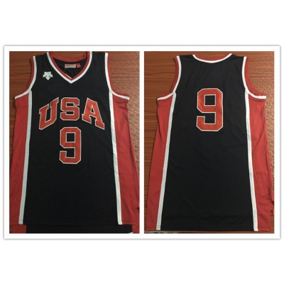 Olympics Team USA 9 Navy Stitched Basketball Men Jersey