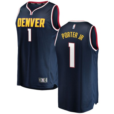 NBA Nuggets 1 Michael Porter Jr. Navy Nike Swingman Men Jersey