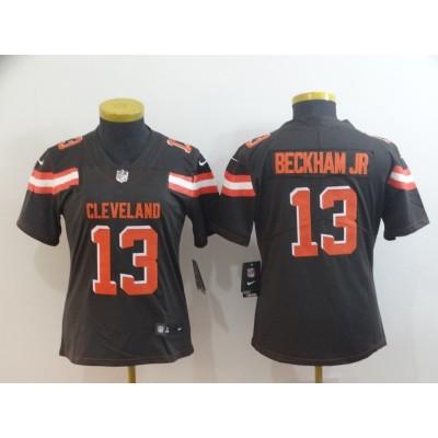 Nike Browns 13 Odell Beckham Jr Brown Vapor Untouchable Limited Women Jersey