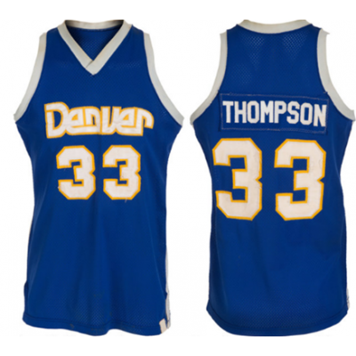 NBA Nuggets 33 David Thompson Blue Men Jersey