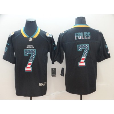Nike Jaguars 7 Nick Foles Black USA Flag Limited Men Jersey