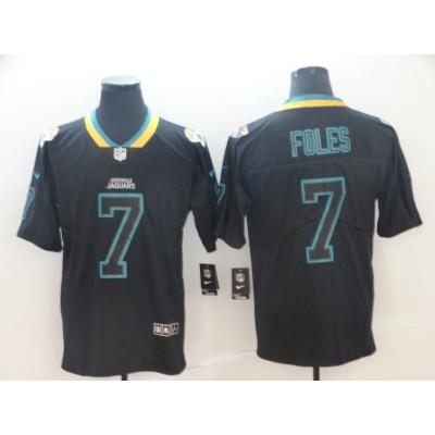 Nike Jaguars 7 Nick Foles Black Shadow Legend Limited Men Jersey