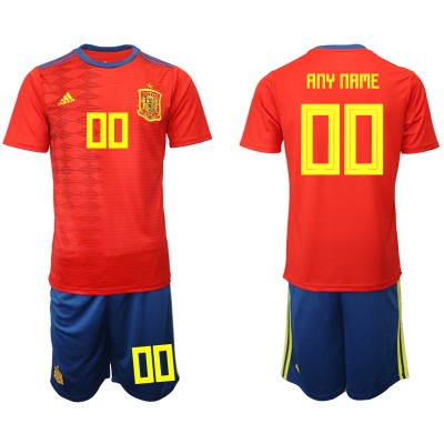 2019-20 Spain Customized Home Soccer Men Jersey