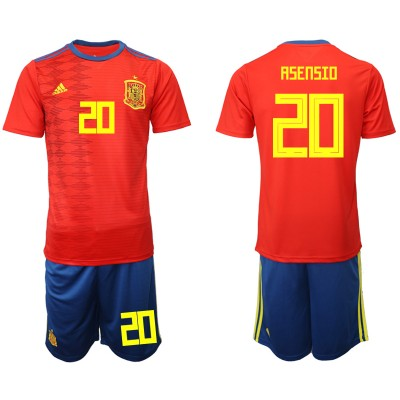 2019-20 Spain 20 ASENSIO Home Soccer Men Jersey