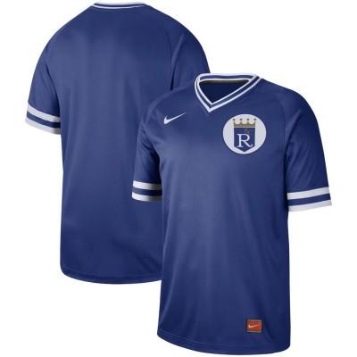 MLB Royals Blank Blue Nike Cooperstown Collection Legend V-Neck Men Jersey