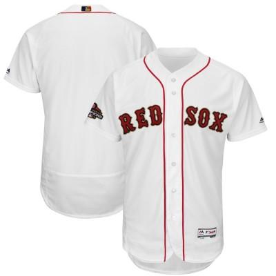 MLB Red Sox Blank White 2019 Gold Program FlexBase Youth Jersey