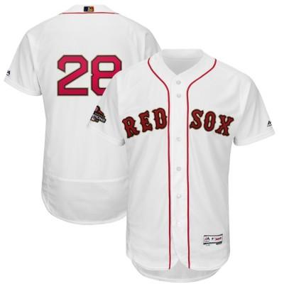 MLB Red Sox 28 J.D. Martinez White 2019 Gold Program FlexBase Youth Jersey