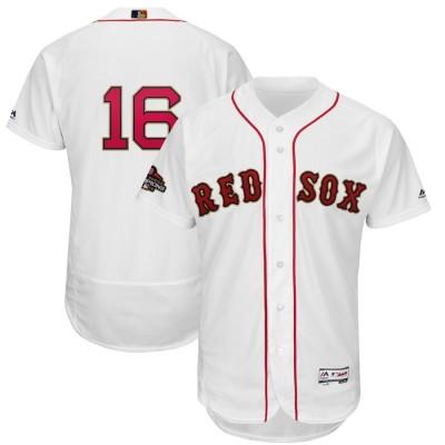 MLB Red Sox 16 Andrew Benintendi White 2019 Gold Program FlexBase Youth Jersey