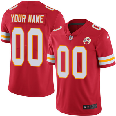 Nike Cheifs Red Customized Vapor Untouchable Limited Men Jersey