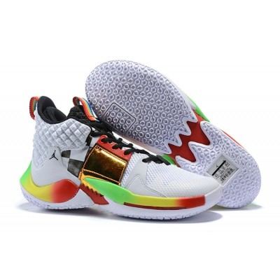 "Russell Westbrook Jordan ""Why Not?"" Zer0.2 Rainbow Shoes"