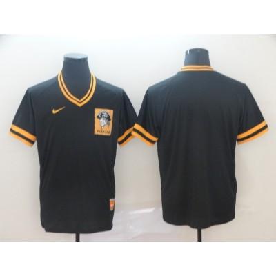 MLB Pirates Blank Black Nike Cooperstown Collection Legend V-Neck Men Jersey
