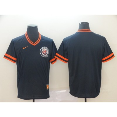 MLB Tigers Blank Navy Nike Cooperstown Collection Legend V-Neck Men Jersey
