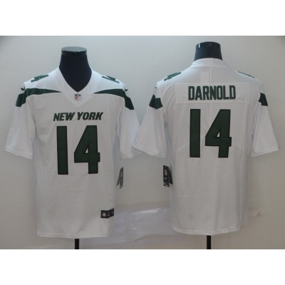 Nike Jets 14 Sam Darnold White New 2019 Vapor Untouchable Limited Men Jersey