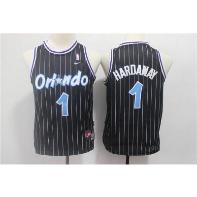 NBA Magic 1 Penny Hardaway Black Nike Youth Jersey