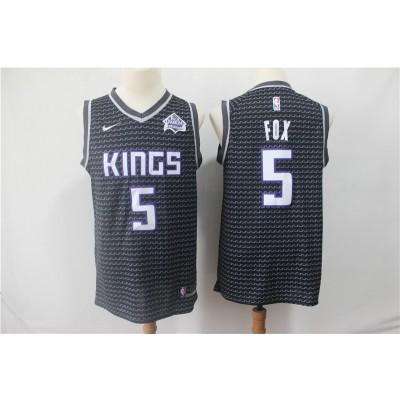 NBA Kings 5 De'Aaron Fox Black Nike Swingman Men Jersey