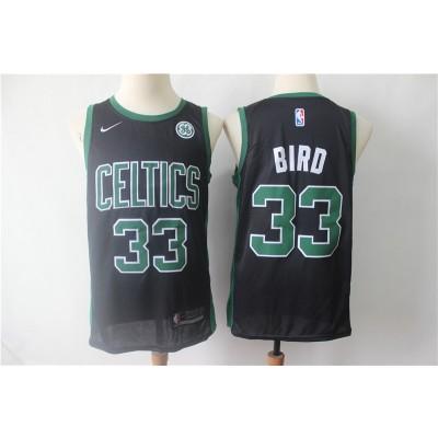 NBA Celtics 33 Larry Bird Black Nike Swingman Men Jersey