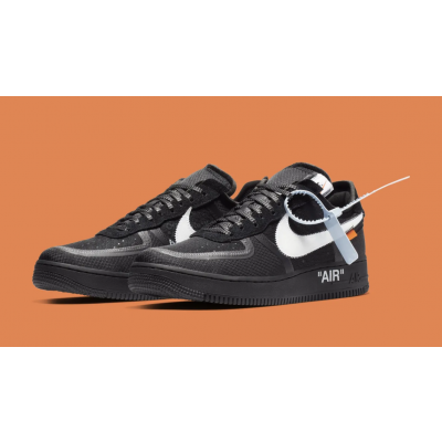 Off- White Air Force 1 Low Black Shoes