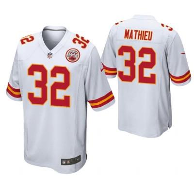 NFL Chiefs 32 Tyrann Mathieu White Elite Men Jersey