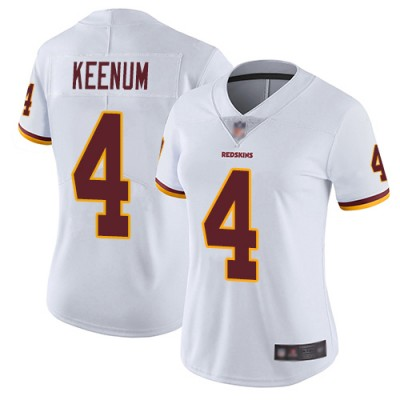 Nike Redskins 4 Case Keenum White Vapor Untouchable Limited Women Jersey