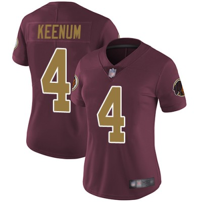 Nike Redskins 4 Case Keenum Burgundy With Gold Number Vapor Untouchable Limited Women Jersey