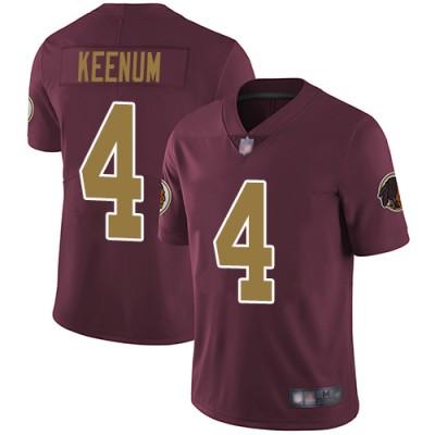 Nike Redskins 4 Case Keenum Burgundy With Gold Number Vapor Untouchable Limited Men Jersey