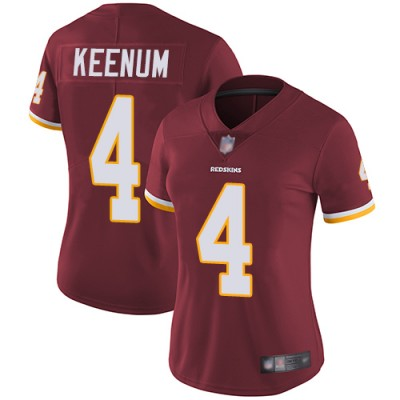 Nike Redskins 4 Case Keenum Burgundy Vapor Untouchable Limited Women Jersey