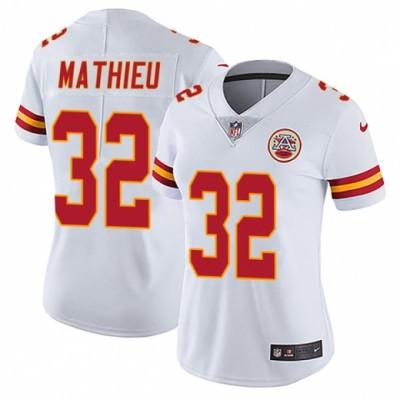 Nike Kansas City Chiefs 32 Tyrann Mathieu White Vapor Untouchable Limited Women Jersey