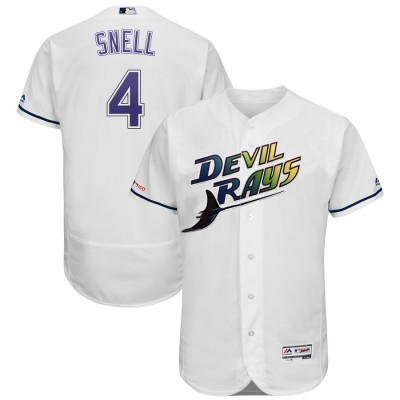 MLB Rays 4 Blake Snell Turn Back The Clock 150th FlexBase Men Jersey