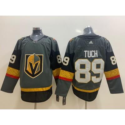 NHL Vegas Golden Knights 89 Alex Tuch Adidas Gray Men Jersey