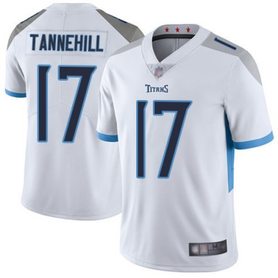 Nike Titans 17 Ryan Tannehill White Vapor Untouchable Limited Men Jersey