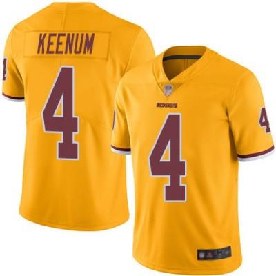 NFL Redskins 4 Case Keenum Color Rush Gold Limited Men Jersey