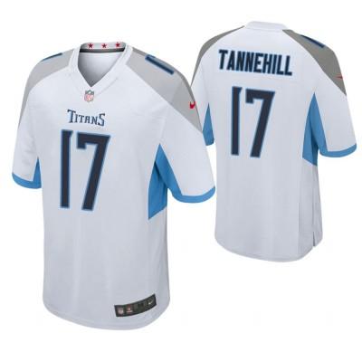 Nike Titans 17 Ryan Tannehill White Game Men Jersey