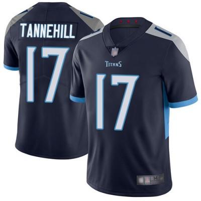 Nike Titans 17 Ryan Tannehill Navy Vapor Untouchable Limited Men Jersey