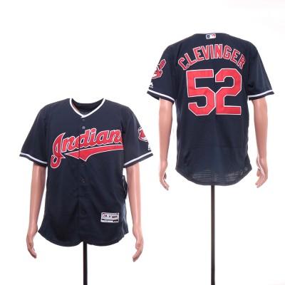 MLB Indians 52 Mike Clevinger White Flexbase Men Jersey