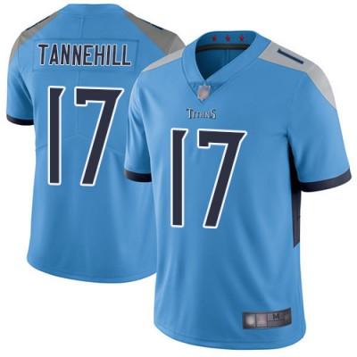 Nike Titans 17 Ryan Tannehill Light Blue Vapor Untouchable Limited Men Jersey