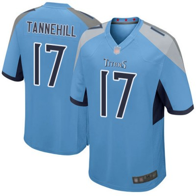 Nike Titans 17 Ryan Tannehill Light Blue Game Men Jersey