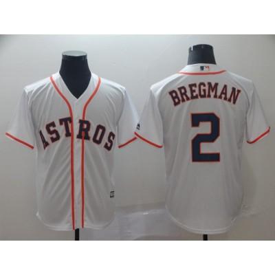 MLB Astros 2 Alex Bregman White Cool Base Men Jersey