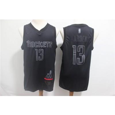 NBA Rockets 13 James Harden Black MVP Honorary Edition NikeMen Jersey
