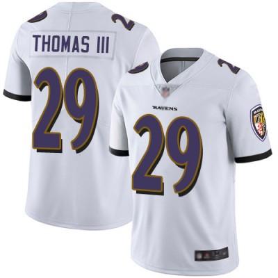 Nike Ravens 29 Earl Thomas III White Vapor Untouchable Limited Men Jersey
