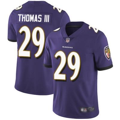 Nike Ravens 29 Earl Thomas III Purple Vapor Untouchable Limited Men Jersey