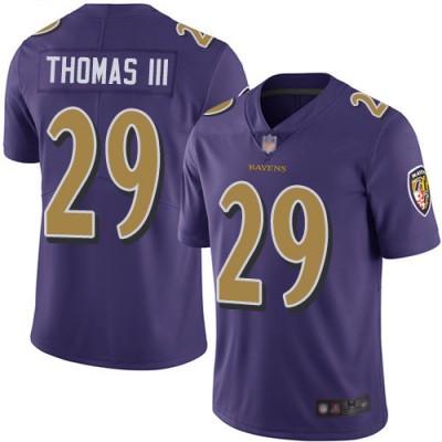 Nike Ravens 29 Earl Thomas III Purple Color Rush Limited Men Jersey