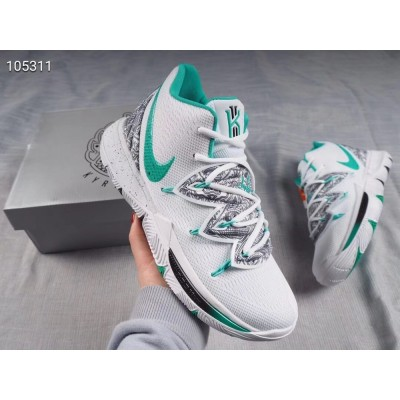 """Nike Kyrie 5 """"Unveiled"""" PE White/Mint Green-Black Shoes"""