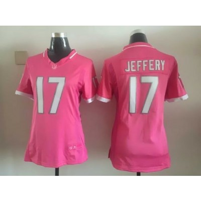 Nike Bears 17 Alshon Jeffery Pink Bubble Gum Women Jersey