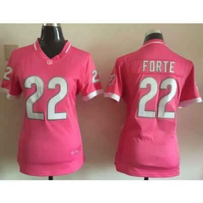 Nike Bears 22 Matt Forte Pink Bubble Gum Women Jersey